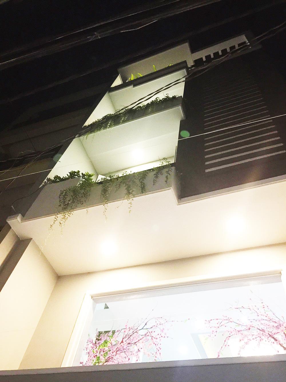 Mặt tiền hoàn thiện nhà phố 5 tầng