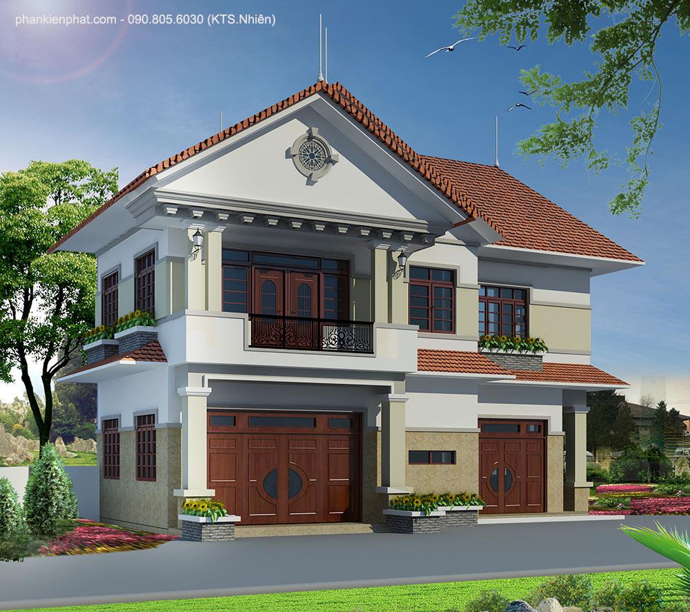 Mặt tiền nhà 2 bán cổ điển 11x6m mái Thái
