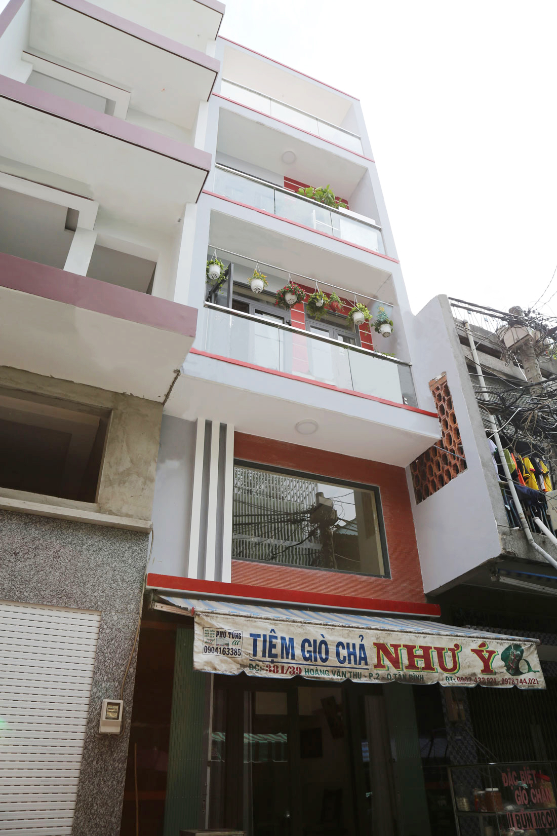 Mặt tiền Nhà phố 5 tầng diện tích 3,8x15m