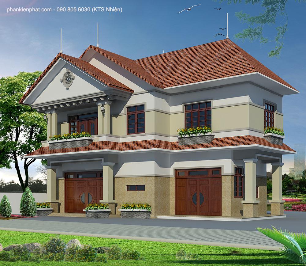 Công trình, Thiết kế nhà 2 tầng, Bác Chung