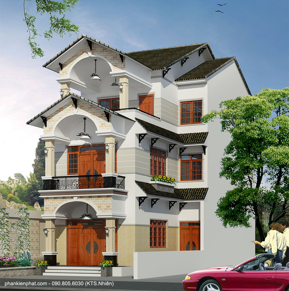 Công trình, Thiết kế nhà 3 tầng, Anh Đức