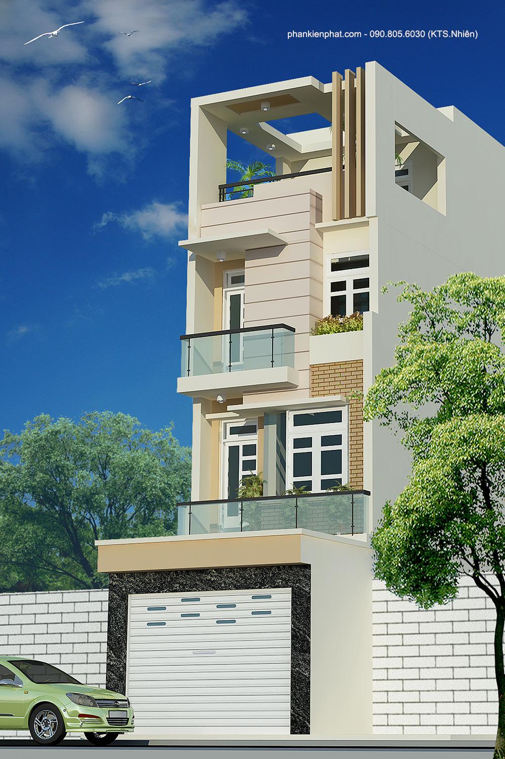 Công trình, Thiết kế xây dựng nhà phố, Anh Trung Nam
