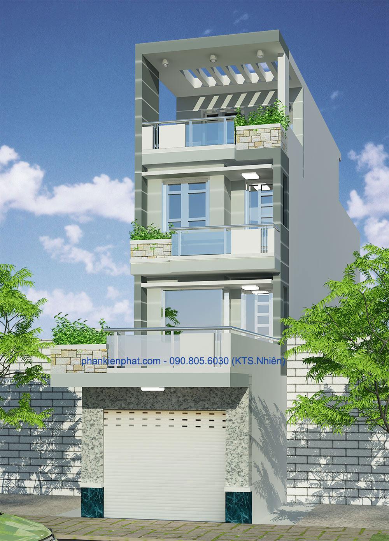 Công trình, Thiết kế nhà 4 tầng, Chú Đặng Minh Trung