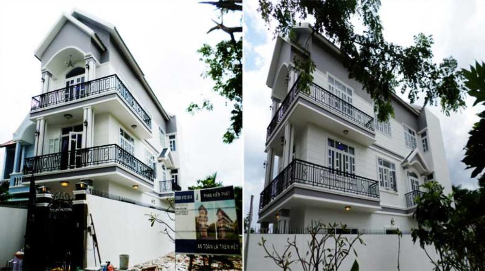Nhà 3 tầng bán cổ điển đang xây dựng