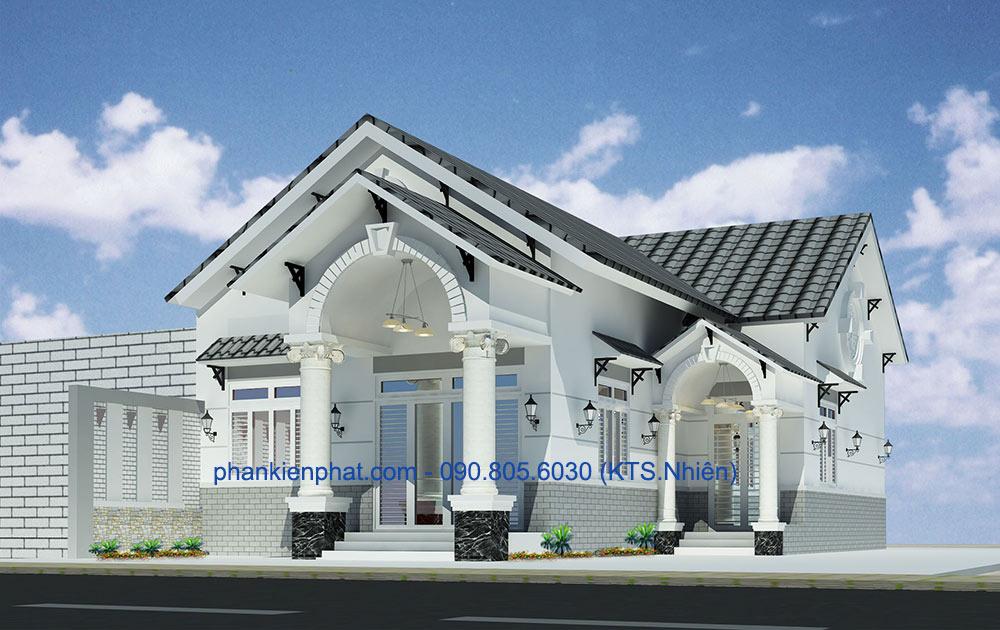 Công trình, Thiết kế nhà 1 tầng, Chị Hà Hường