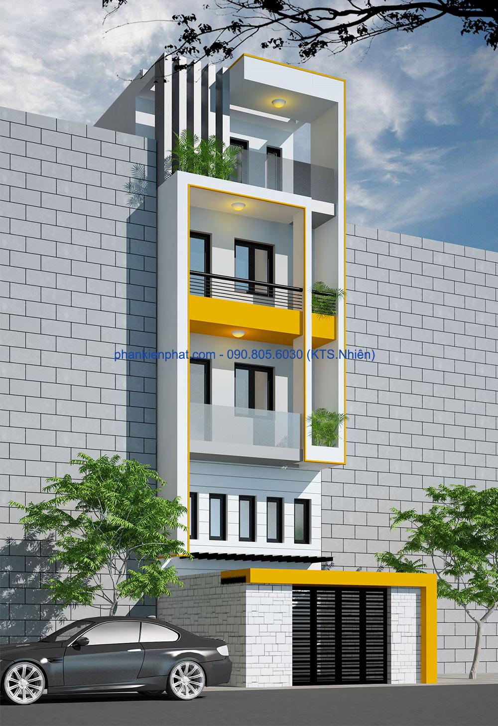 Công trình, Thiết kế xây dựng nhà phố, Cô Minh Hằng