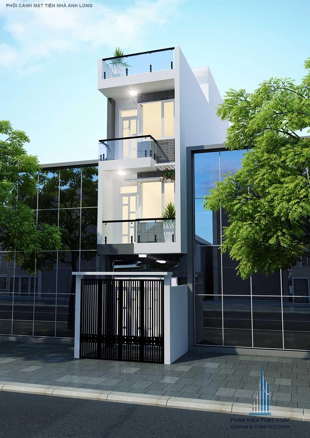 Công trình, Thiết kế nhà 4 tầng, Anh Thái Văn Long