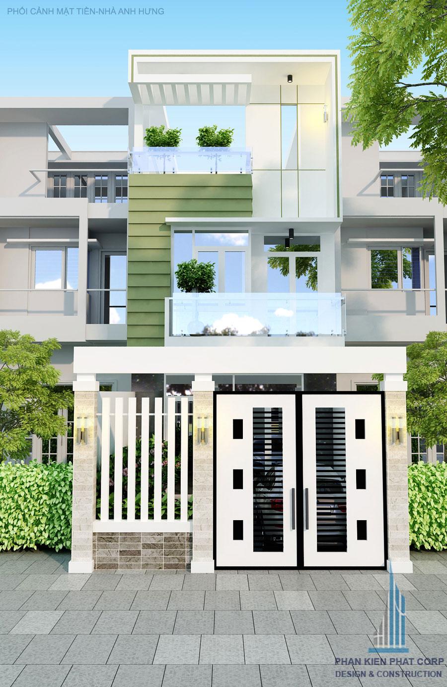 Công trình, Thiết kế nhà 3 tầng, Anh Lê Văn Hùng