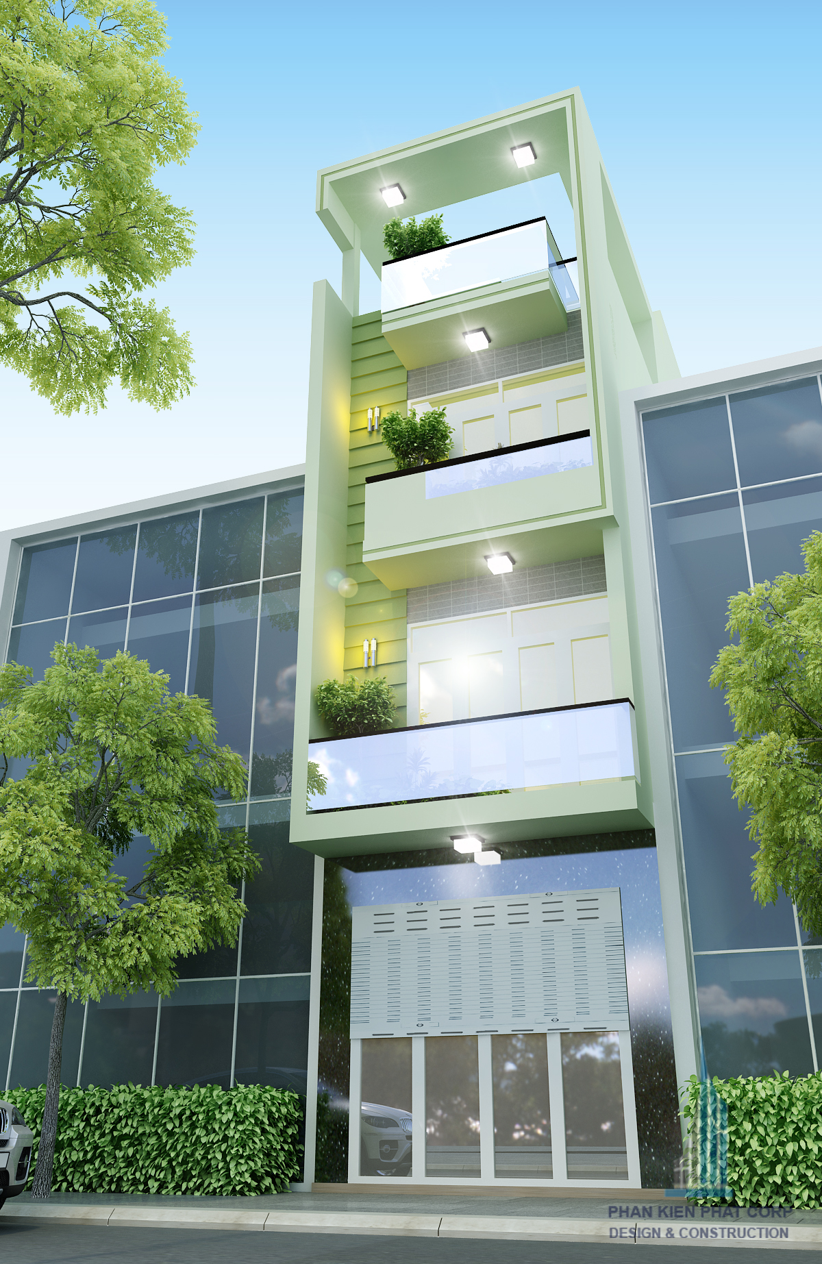 Công trình, Thiết kế xây dựng nhà phố, Chị Quế Thương