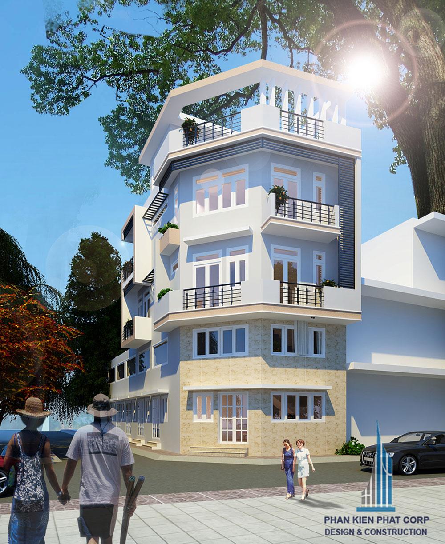 Công trình, Thiết kế nhà 4 tầng, Anh Lâm Hữu Phước