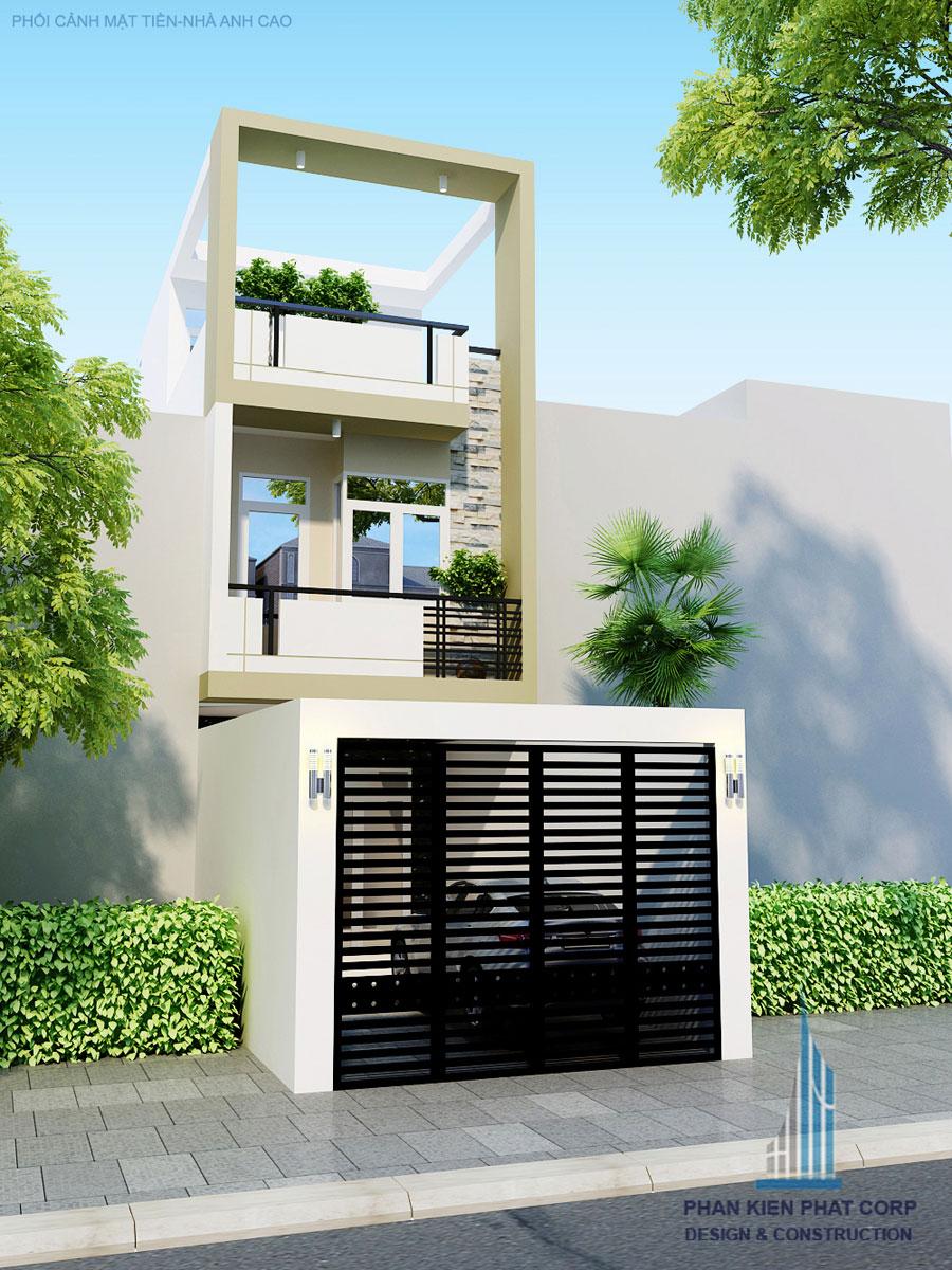 Công trình, Thiết kế nhà 3 tầng, Anh Phạm Văn Cao