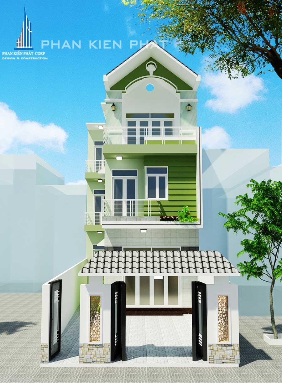 Công trình, Thiết kế nhà 3 tầng, Chú Trần Danh Tiến