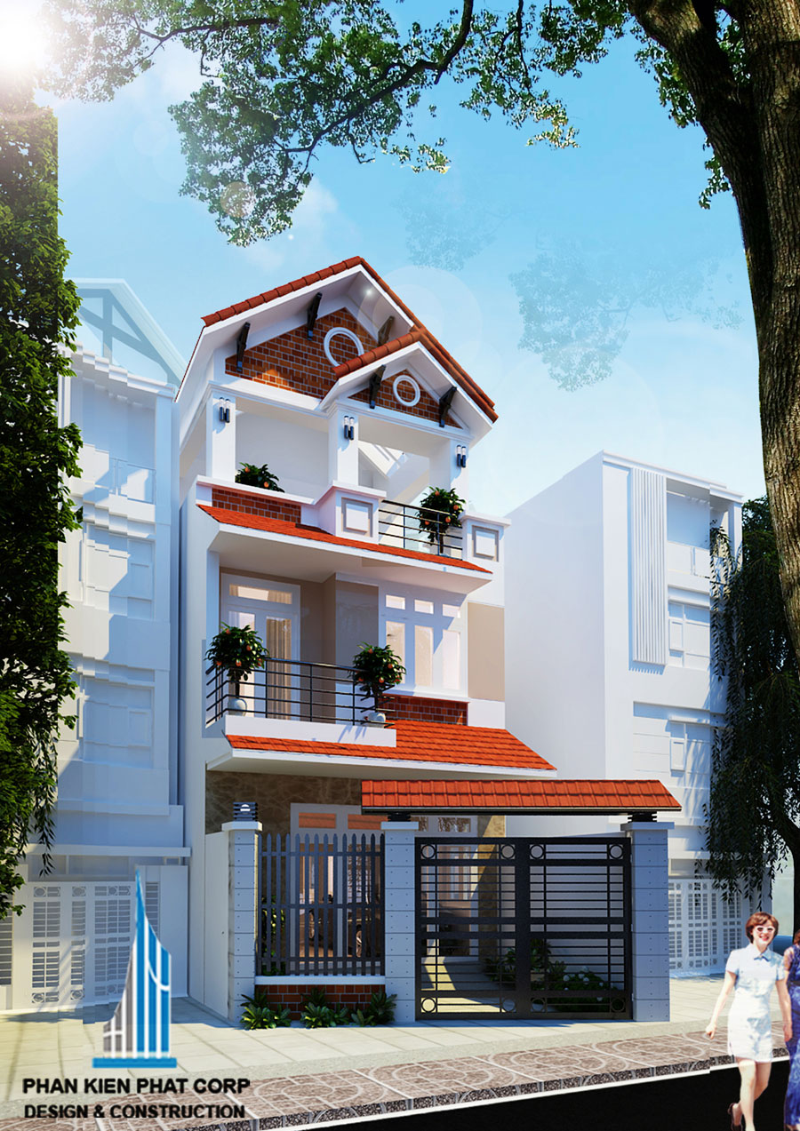 Công trình, Thiết kế nhà 3 tầng, Chị Đặng Thị Kim Phượng