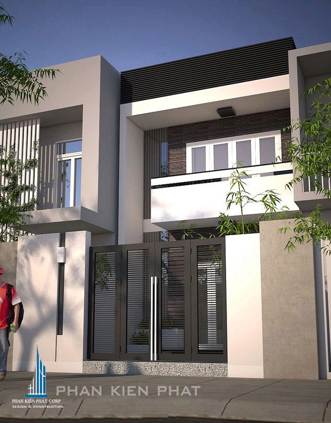 Công trình, Thiết kế nhà 2 tầng, Anh Kiều Quốc Tự
