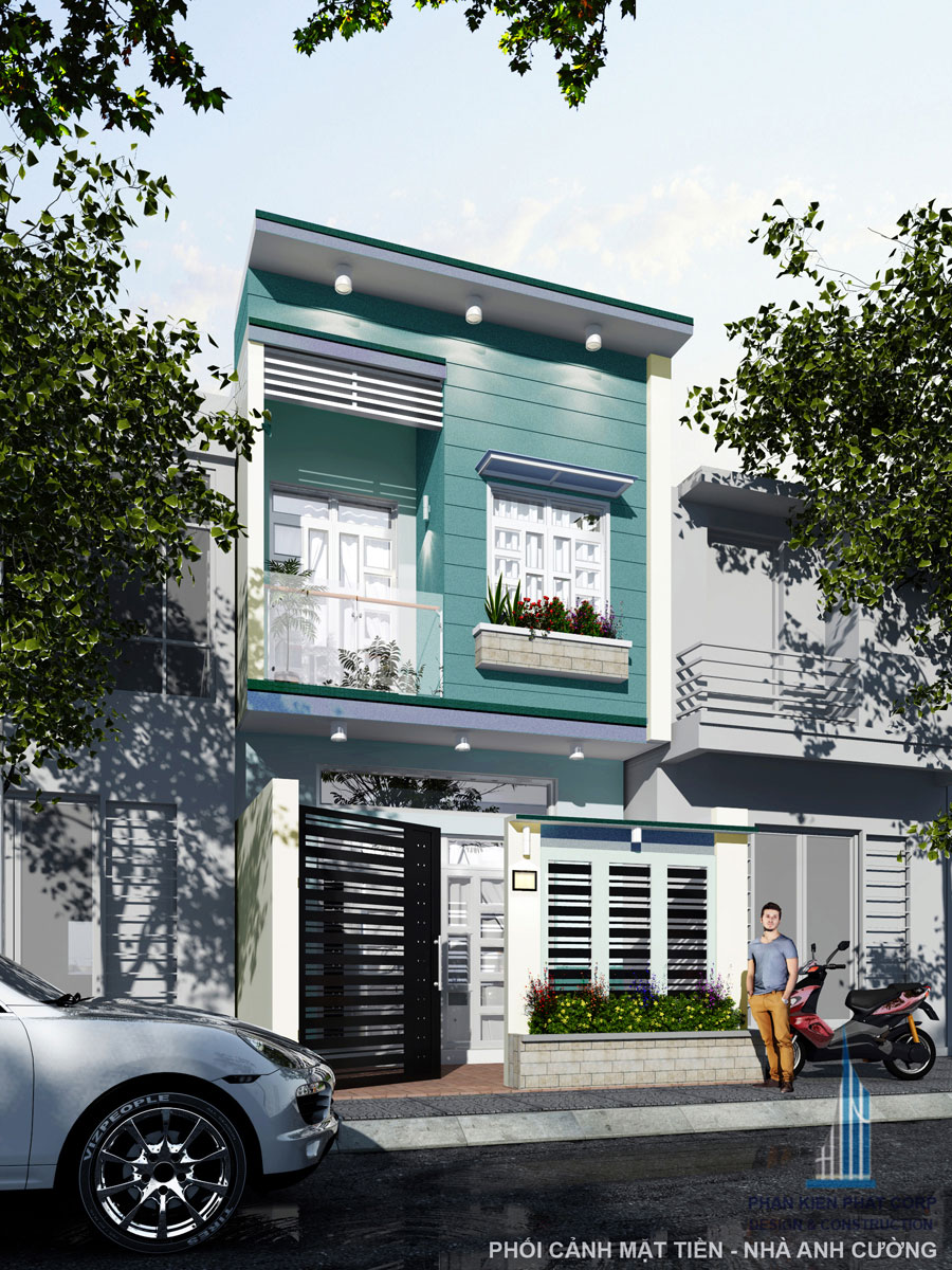 Nhà 2 tầng 5x15m đơn giản
