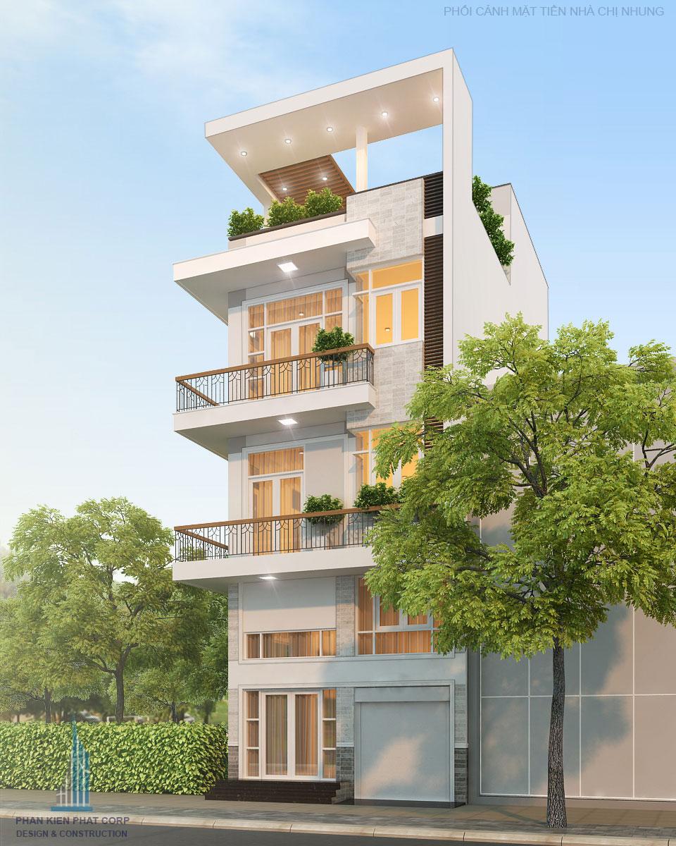 Công trình, Thiết kế nhà 4 tầng, Chị Nguyễn Thị Nhung