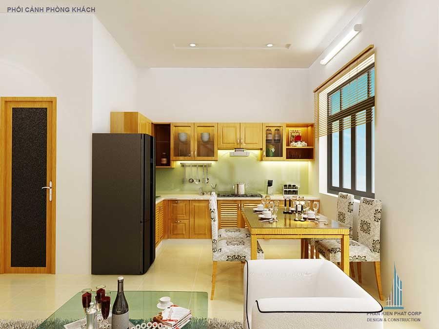 Phòng bếp - thiết kế xây dựng nhà 3 tầng 5x15m