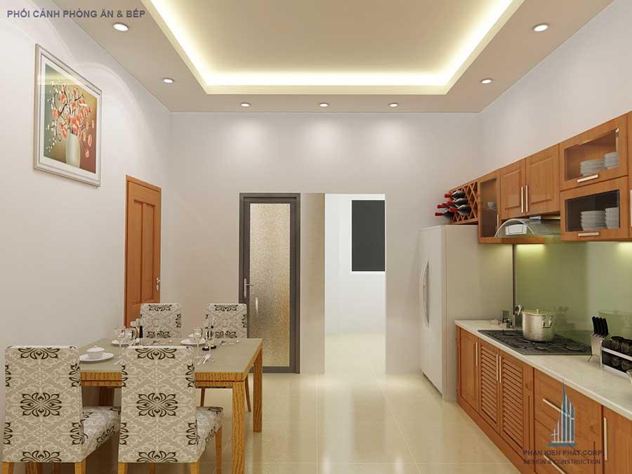 Thiết kế nhà 2 tầng - Bếp ăn góc 1