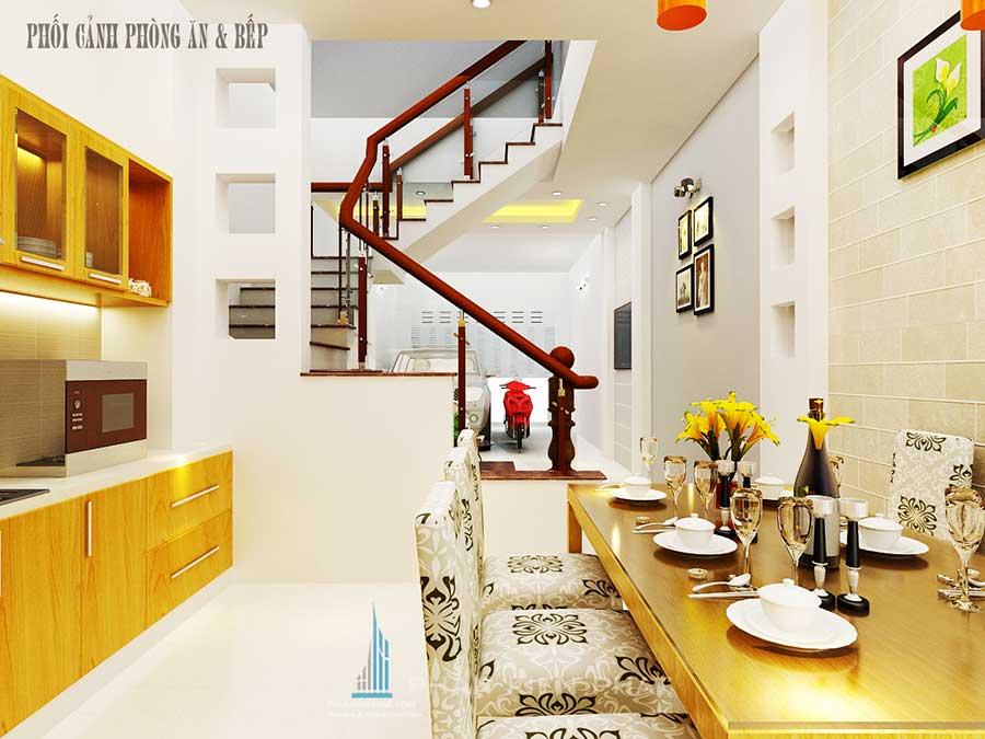 Nhà 5 tầng bán cổ điển - Bếp ăn góc 1