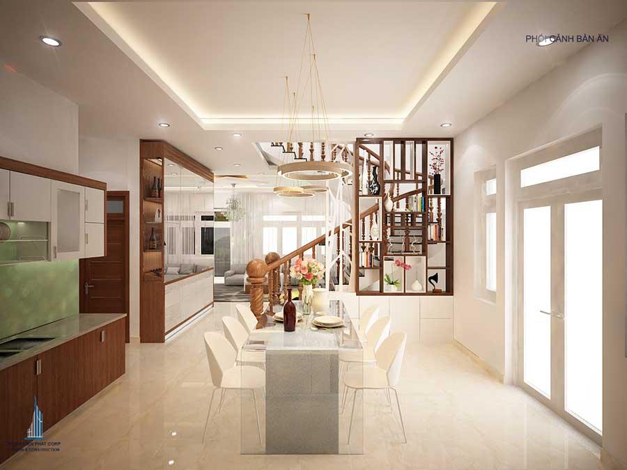 Phòng bếp- xây biệt thự 15x12m