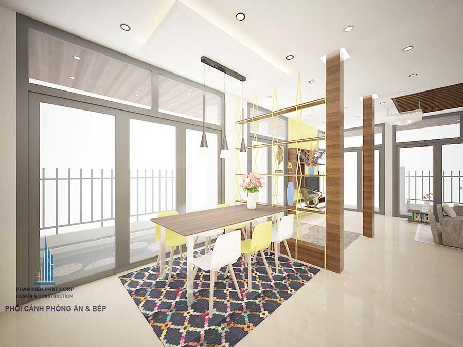 Phòng bếp của biệt thự 3 tầng sang trọng
