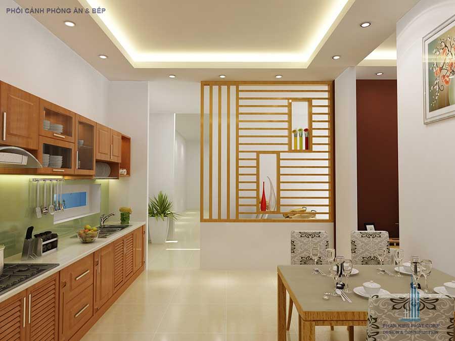 Thiết kế nhà 2 tầng - Bếp ăn góc 2
