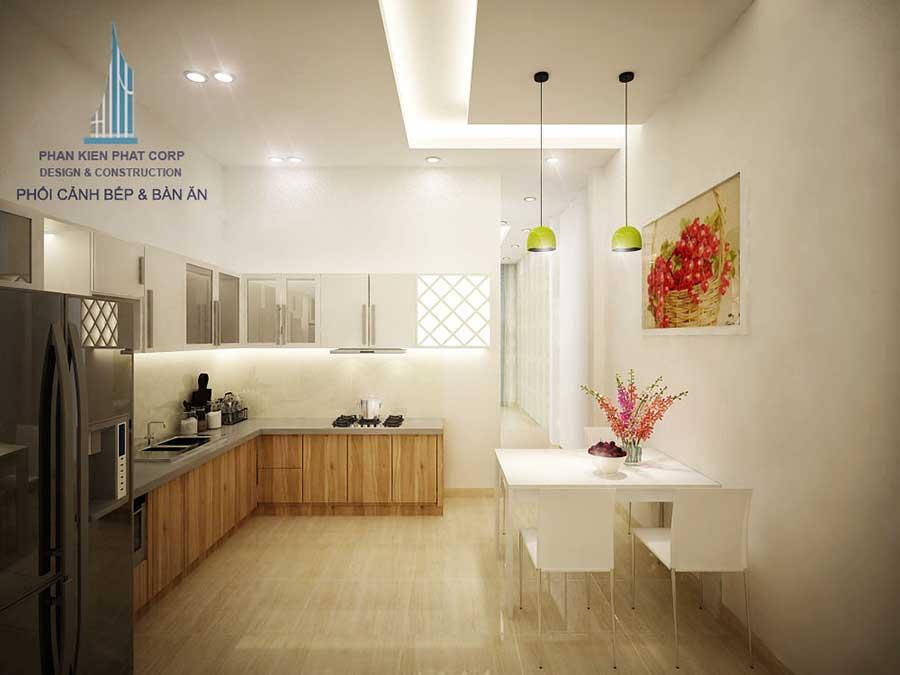 Thiết kế nhà 4x15m - Bếp ăn góc 2