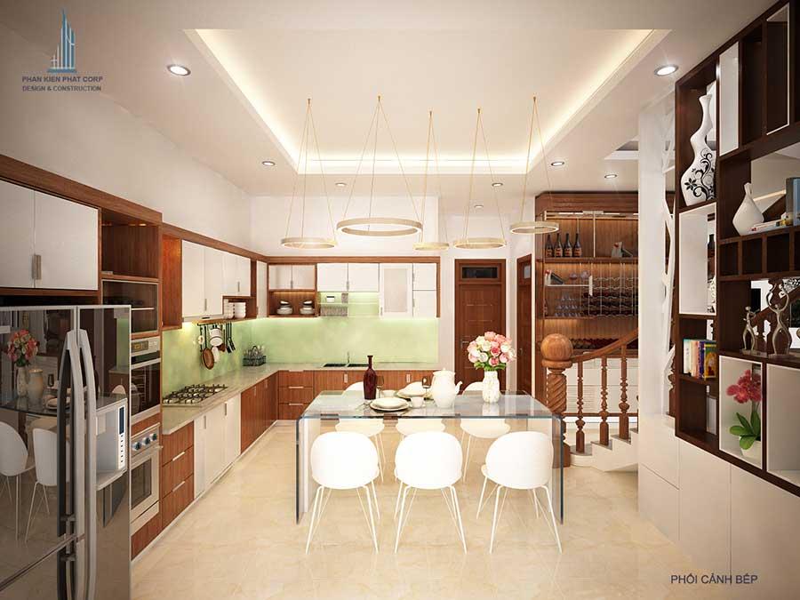 Thiết kế biệt thự hiện đại - Bếp ăn góc 3