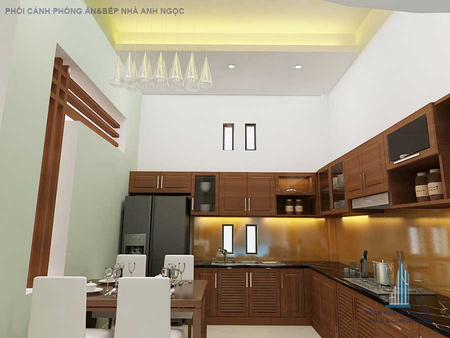 Xây dựng biệt thự - Bếp ăn góc 2