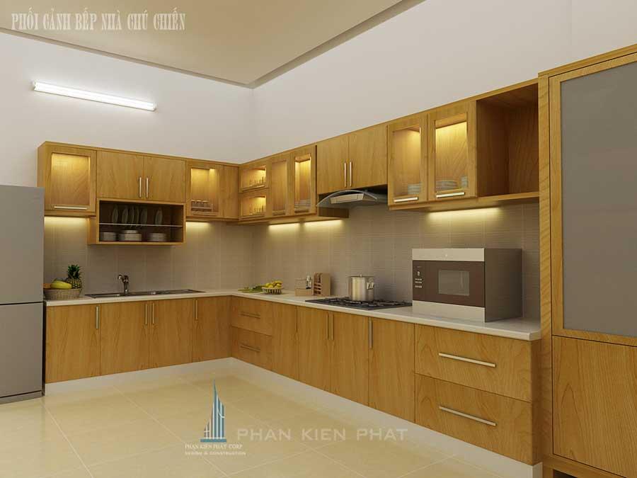 Nhà 3 tầng mái Thái - Bếp góc 1