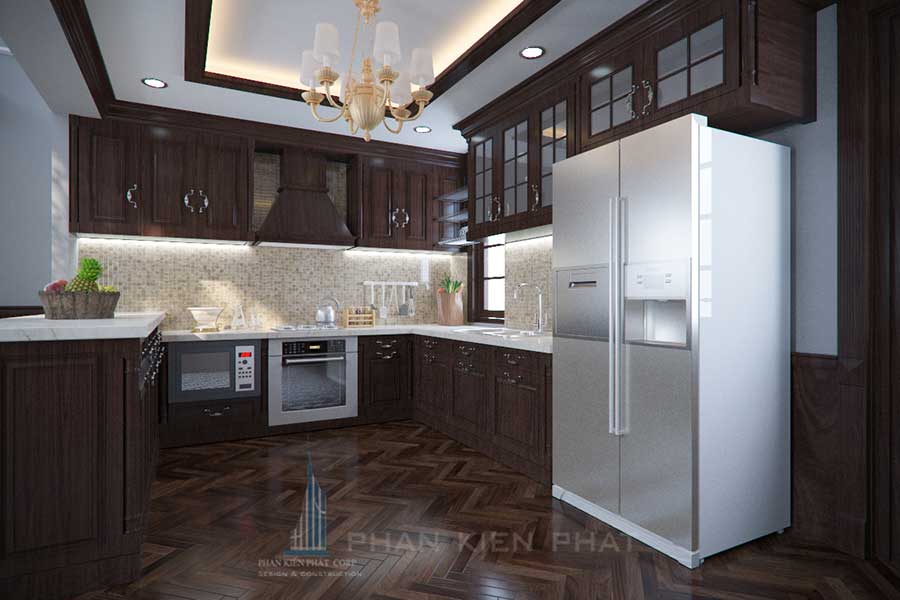 Phòng bếp 1 - báo giá xây dựng biệt thự 3 tầng