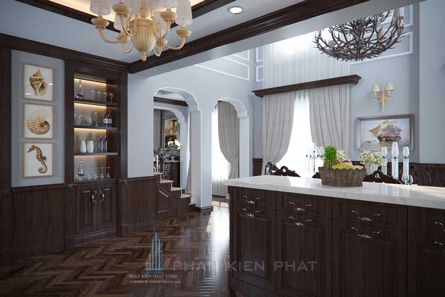 Biệt thự cổ điển - Bếp góc 2