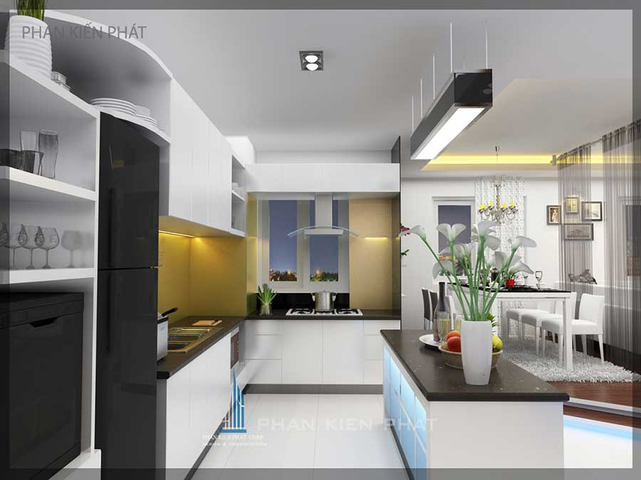 Nội thất căn hộ chung cư - Bếp góc 2