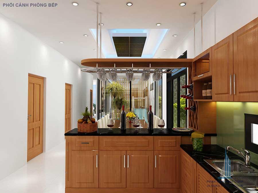 Thiết kế nhà 2 tầng - Bếp góc 2