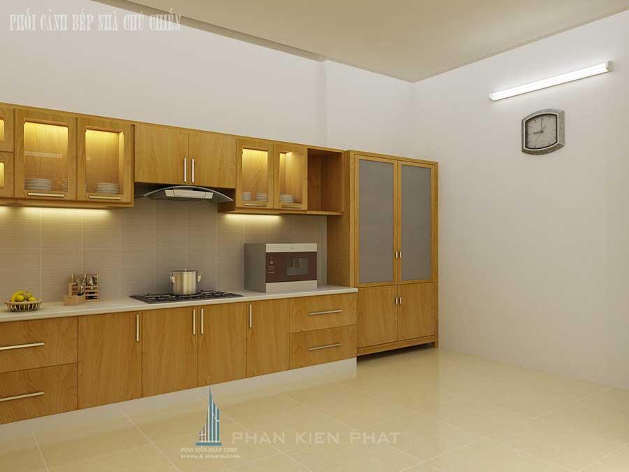 Thiết kế nhà 3 tầng - Bếp góc 2