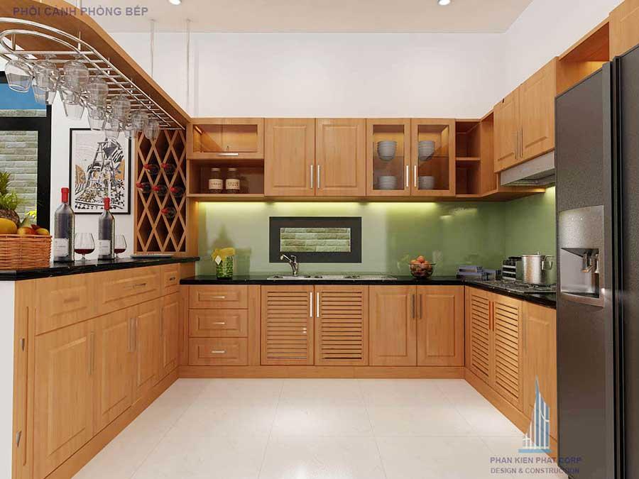 Thiết kế nhà 2 tầng - Bếp góc 3