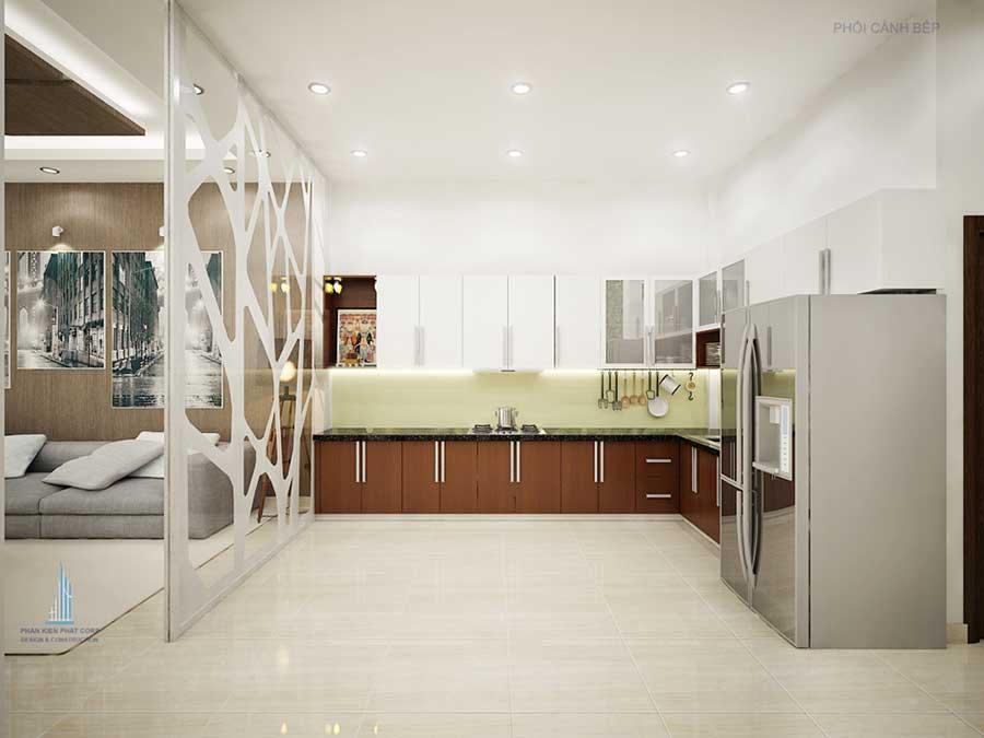 Phòng bếp - Nhà 3 tầng bán cổ điển