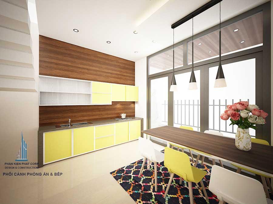 Phòng bếp - Thi công xây nhà ở 3 tầng
