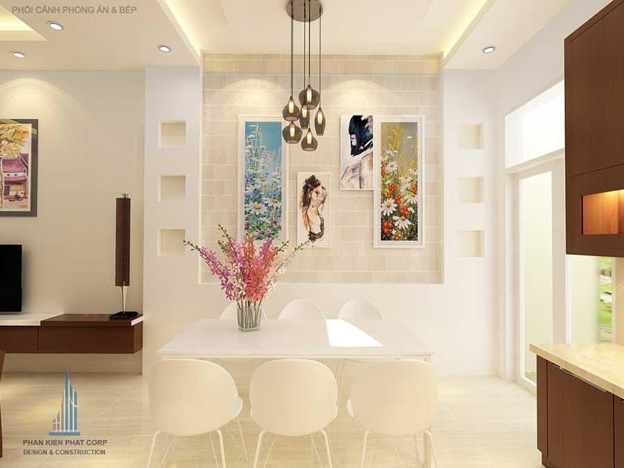 Thiết kế nhà phố 3 tầng - Bếp phòng ăn góc 2