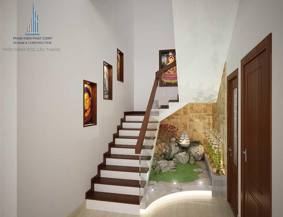 Nhà 2 tầng mái xéo - Cầu thang