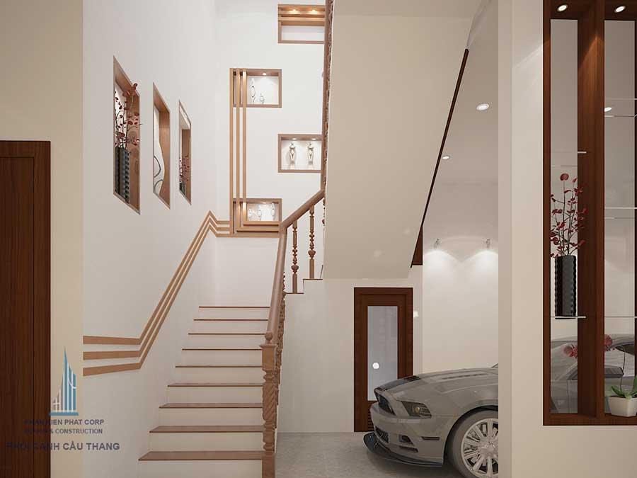 Biệt thự bán cổ điển - Cầu thang góc 1