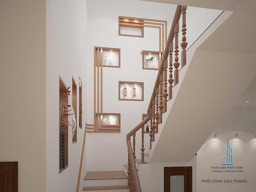 Biệt thự 3 tầng cổ điển - Cầu thang góc 2