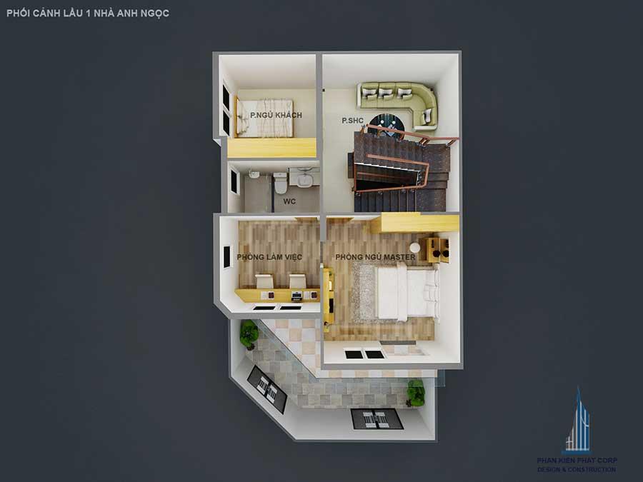 Xây dựng biệt thự bán cổ điển - Lầu 1 góc 1