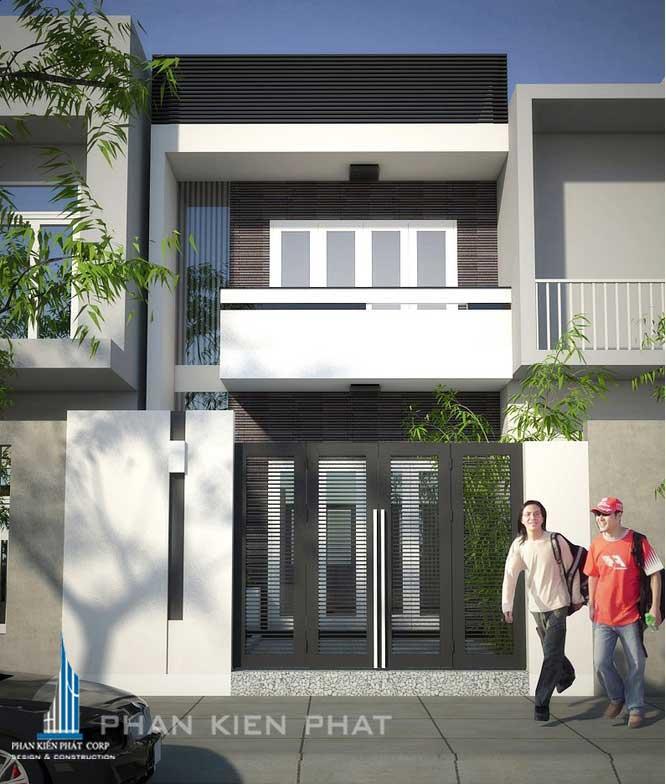 Thiết kế xây dựng nhà thông tầng - 2 tầng
