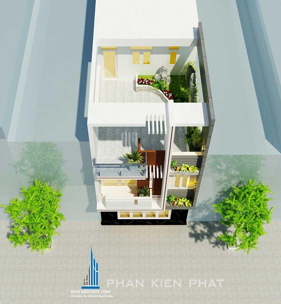 Mẫu nhà phố hiện đại 3 tầng sang trọng
