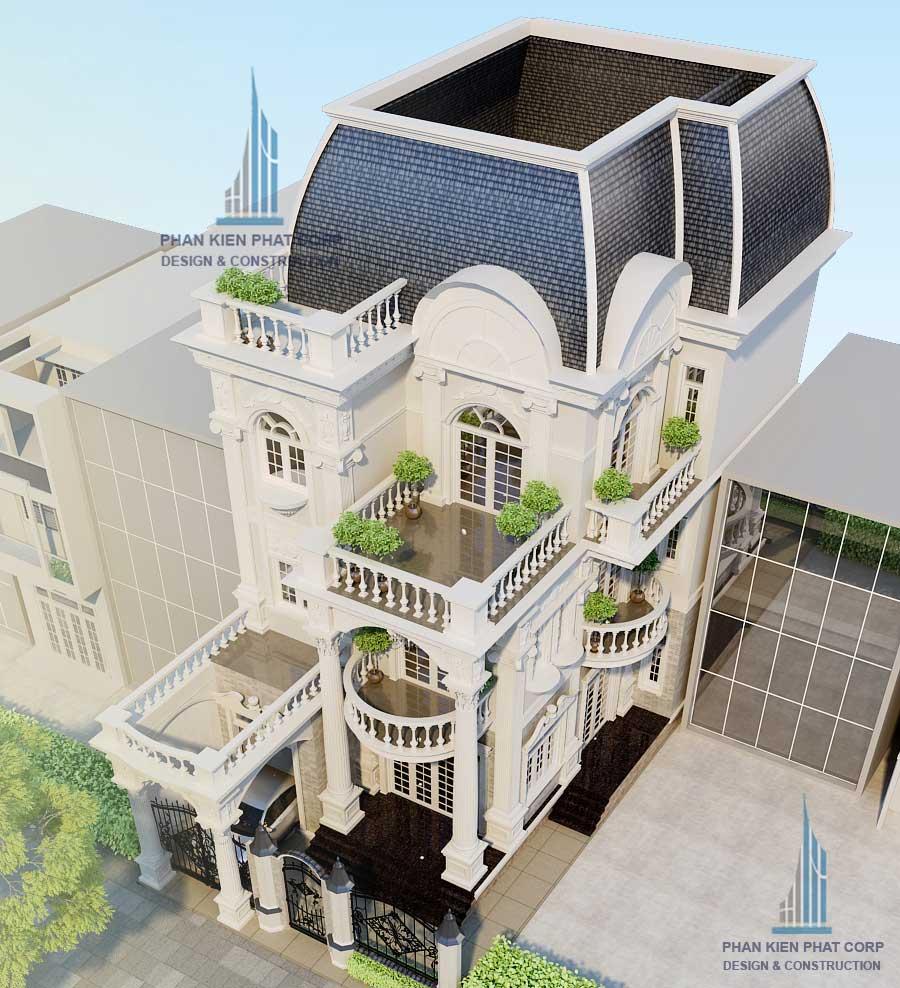 Thiết kế xây dựng biệt thự 5x20m 3 tầng
