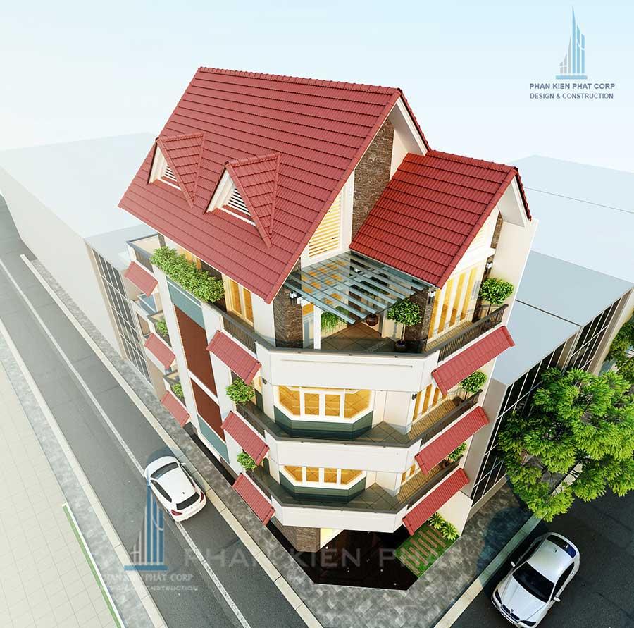 Thiết kế thi công nhà 4 tầng kết hợp kinh doanh