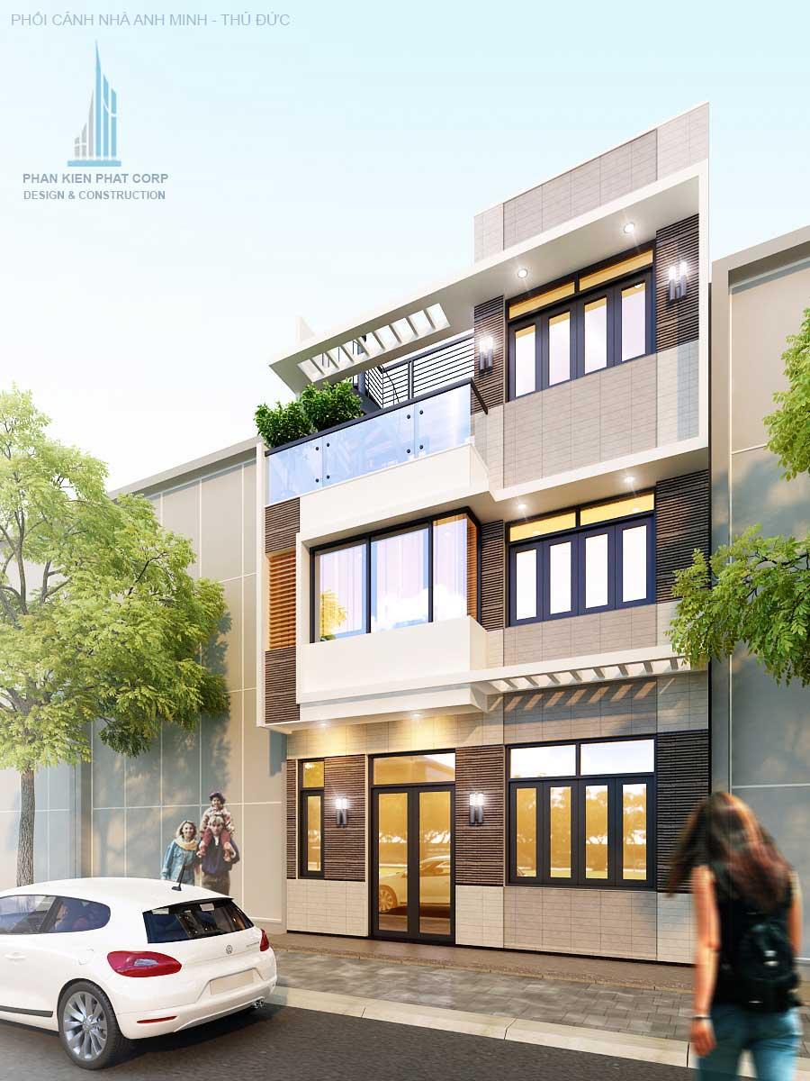 Mặt tiền góc 1 - nhà phố thiết kế sang trọng
