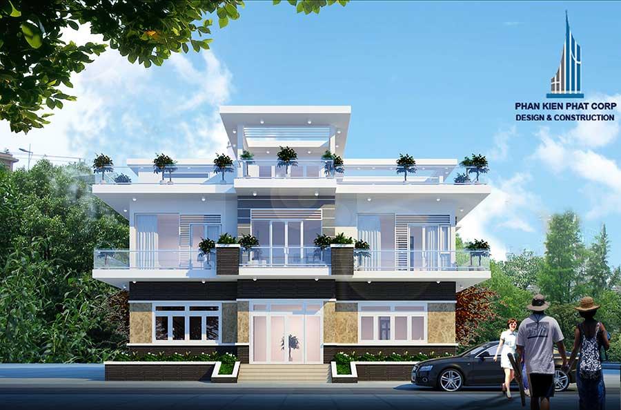 Biệt thự hiện đại 3 tầng - Mặt tiền góc 1
