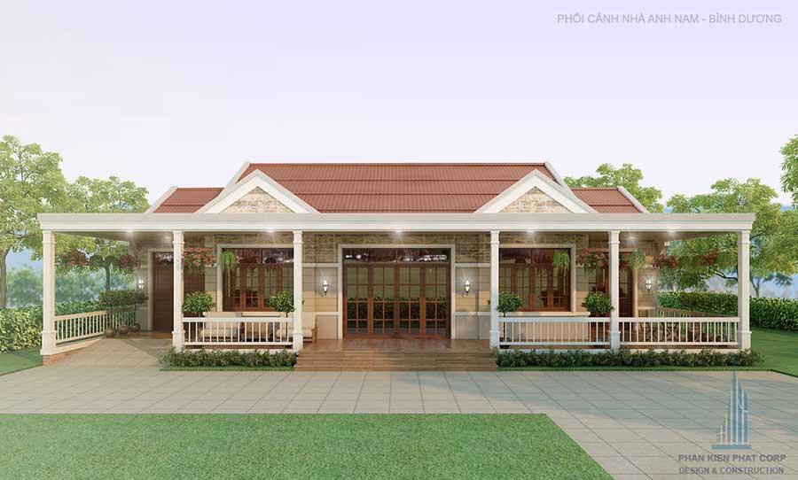 Thiết kế xây dựng nhà cấp 4 sân vườn Mỹ Hạnh